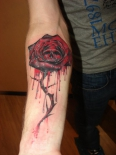 gothic_rose_and_skull_by_rublev_tattoo-d330mbg