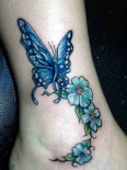 butterfly-flowers-ankle-tattoos