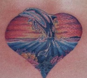 dolphin-tattoo-sunset