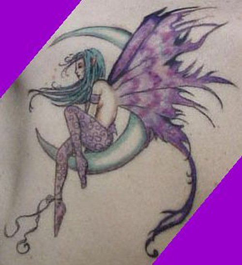Fairy Moons And Star Tattoos 52