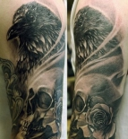 crow-rose-skull-tattoo1