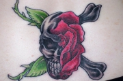 skull-and-rose-tattoo-designs