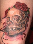 skull-rose-tattoo